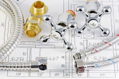 a sanitary engineering drawing and fittings